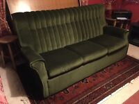 Sofabed - foldaway metal frame, fully sprung, 3 seater bed settee