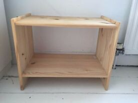 Two Ikea RAST natural wood bedside tables - £5