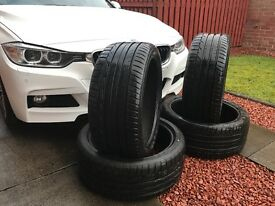 Four Nearly New Dunlop Sportmaxx RT Tyres (Ideal for BMW)