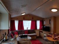 Static 6 berth caravan to rent