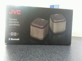 JVC Stereo Wireless Bluetooth Speakers SP-AT3-B