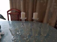 Candle holders and glasses