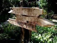Amusing garden/shed sign