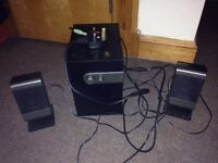 Small 2.1 speakers for sale, used, 6W output