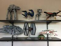 Lego Star Wars Collection 15 sets including: ATAT 75054 Xwing 75102 Millennium Falcon 75105