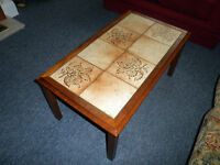 Vintage Tiled Top Coffee Table