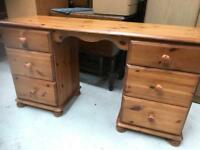 Pine Desk/dressing table FREE DELIVERY PLYMOUTH AREA