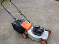 "Husqvarna/Flymo 18"" petrol lawnmower briggs and stratton engine good runner"