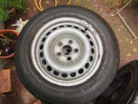 """VW T4 Genuine Steel 16 """" Wheels & Tyres (205 65R 16C)."""