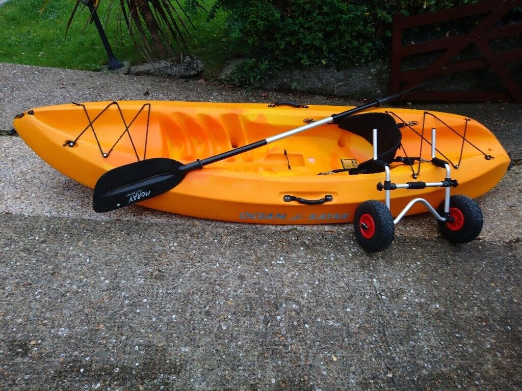 Ocean Kayak Frenzy - complete with seat, paddle and wheels