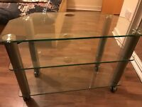 Glass TV Stand- High Quality- Heavy Stand