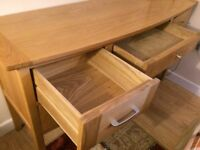 Solid oak 5 drawer dressing table