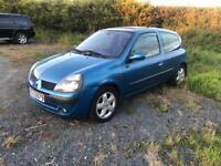 2002 Renault Clio 1.2 Dynamique Full years MOT Cheap First Car