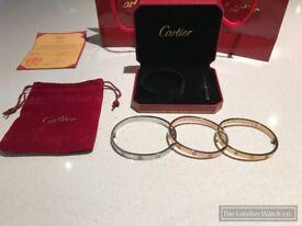 Cartier Love Bangles Rose Gold Or White Gold.... Stunning Bracelet
