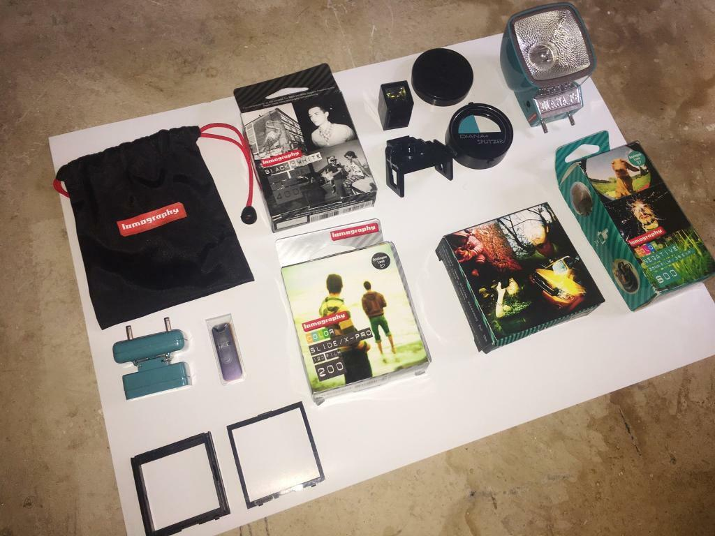 Lomography Film x3 and Camera Accessories