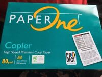 Two packs of A4 Paper One High Speed Premium Copy Paper 500 sheets NEW in pack