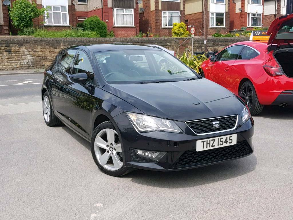 2015 SEAT LEON 1.6 TDI TECH PACK MANUAL 5 DOOR BLACK FR REPLICA SPEC SAT NAV
