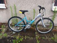 Raleigh girls Bike with 24 inch wheel