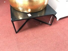 7 black glass coffee table