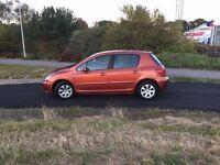 Peugeot 307 1.4 petrol 2003 110k next MOT 09/17