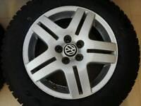 2x volkswagen golf winter tyres 100x5