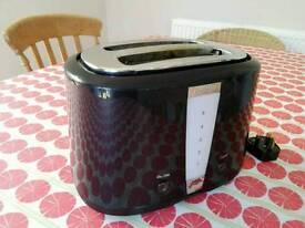 Prestige black chrome 2-slice toaster