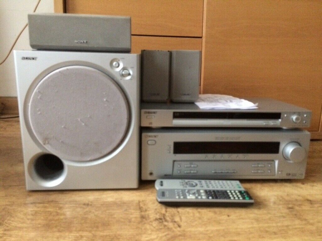Sony Amp Home Theatre Receiver  Subwoofer And Surround Sound Speakers And Cd  Dvd Player