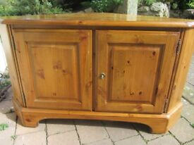Ducal Television Corner Lockable Cupboard / TV Stand