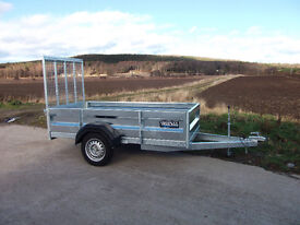 New professionally built 2-6 x 1-32 ( 8x4 ) single axle trailer