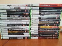 Collection of 30 Xbox 360 games