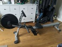 Rowing machine - JTX Fitness Freedom Air Rowing Machine in silver