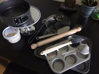 Kitchen Baking Set Muffin Tin/Cake tin/ Cake stand/ tools and MANY!