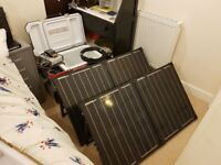 12V 200W folding PV photovoltaic solar panel array camping caravan charger electricity supply