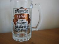 NEW AND BOXED 'DAD' BEER GLASS / TANKARD - BIRTHDAY ?? - (Kirkby in Ashfield)...