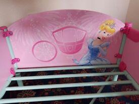 Children Princess bed by Disney with drawer.