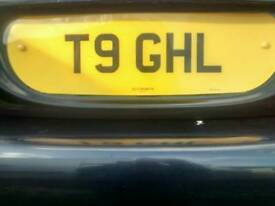 Private number plate T9 GHL