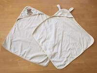 Pair of hooded baby towels