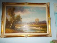 Original framed Oil Painting by Hans Wagner