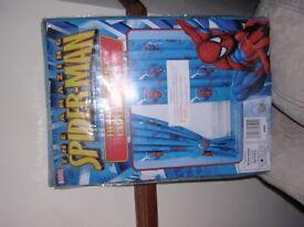 Spiderman curtains with tie backs plus Spiderman figure