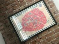 Paris Map Framed