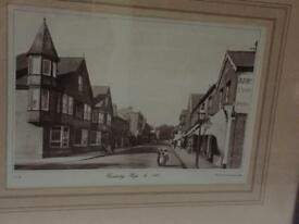 Framed Francis Frith photo of camberley high street 1906