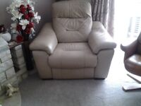 Leather reclining Armchairs (4 off)