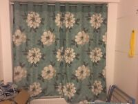 Flower curtains and pole 12£