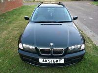 BMW 3 Series 2.5 325i SE Touring 5dr+2001 (51 reg), Estate Manual Service History+One Year MOT,