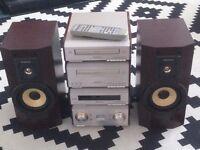 Technics SC-HD350 HiFi Component System CD,Tape Tuner Amp + Free Speakers