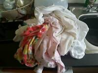 6-9 months baby girl sleepsuits. 4 brand new