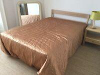 "Habitat 4' 6"" double bed from Tatsuma Ash range"