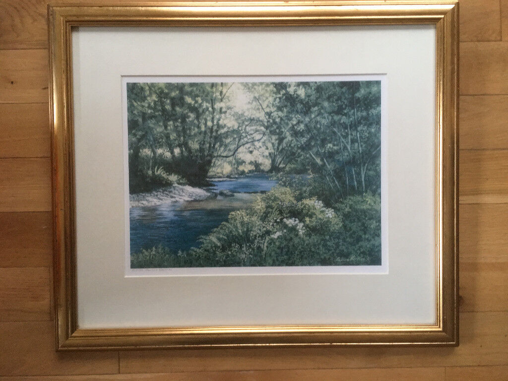 Four signed framed prints by Pembrokeshire artist Pauline Harries