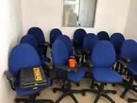 Blue Adjustable Computer Chairs with Arms