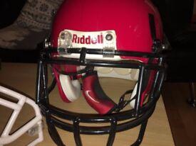 Red Riddell Mens XL Helmet